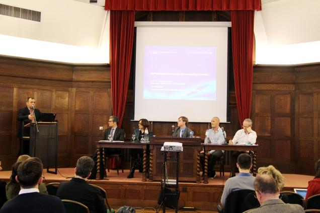 Podium des Bertelsmann Stiftungs Workshops zur Anerkennung von Kompetenzen in Brüssel im Rahmend er EUCIS-LLL Lifelong Learning Week