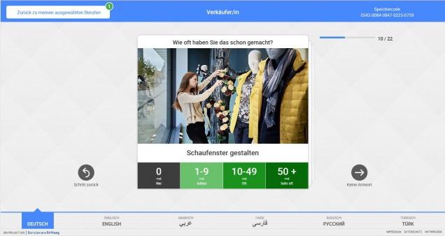 meine-berufserfahrung.de Screenshot - Beruf:  Verkäufer Handlungssituation: Schaufenster gestalten