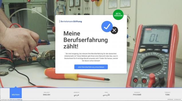 Startbildschirm von meine-berufserfahrung.de